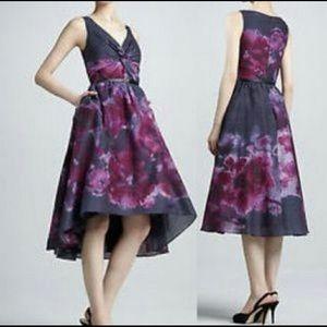 Twist front watercolor Lela Rose 🌹 dress
